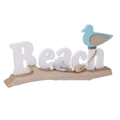 SCRITTA LEGNO MARE BEACH BIANCO CM39X3H1 9,5