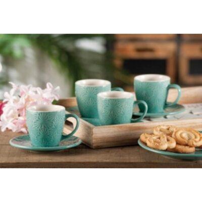 SERV CAFFE CERAM ADRIA 4PER ASS4COL