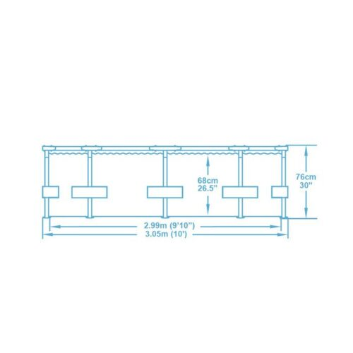PISCINA STEEL PRO FRAME CM. 305X76 CAP. 4678 LT56408 - MI010251