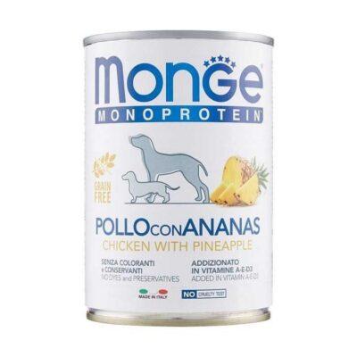 MONGE MONOPROTEICO 100% GR.400 POLLO CO