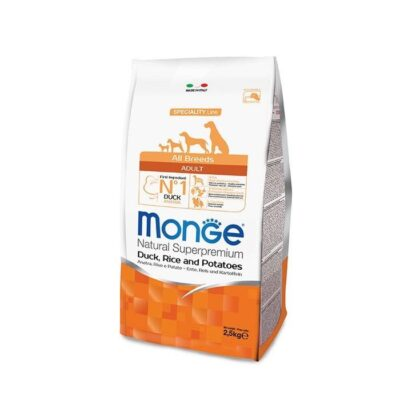 MONGE ALL BREEDS ADULT ANATRA, RISO &PATATE