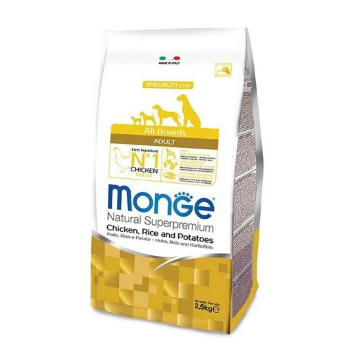 MONGE ALL BREEDS ADULT POLLO, RISO & PATATE