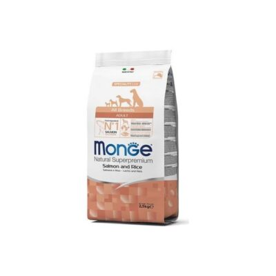 MONGE ALL BREEDS ADULT SALMONE & RISO