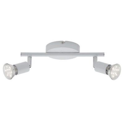 SIMPLE - BARRA 2 X GU10 LED 3 WATT 250 LUMEN 3000K BIANCO