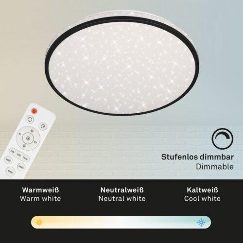 SKIZO - PLAFONIERA DIAM. 38,5CM - LED 24WATT 2200LUMEN 4000K - EFFETTO CIELO STELLATO -
