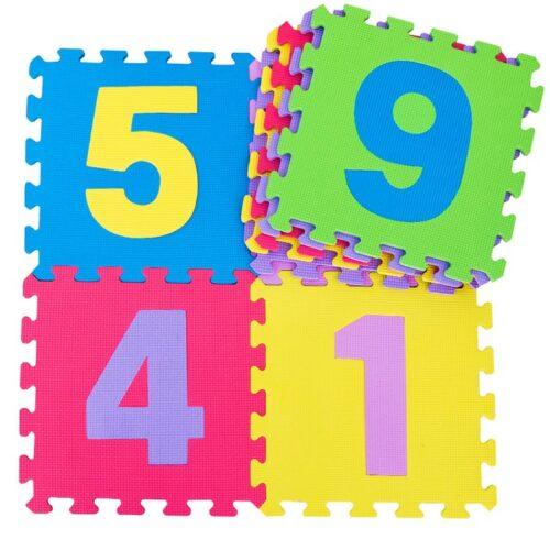 TAPPETO PUZZLE NUMERI 29,5X29,5X0,8CM 10PZ ART. DS